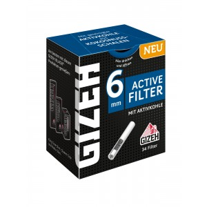 GIZEH Black Active Filter 6 mm, 34er Box