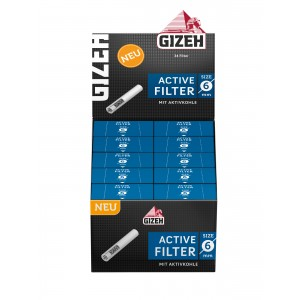 GIZEH Black Active Filter 6 mm, 10er Großpackung