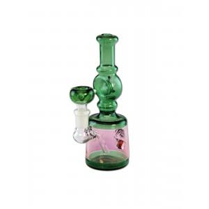'Breit' 'Glasbong grün 17 cm