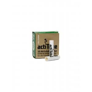 actiTube EXTRA SLIM Aktivkohlefilter 10er Packung
