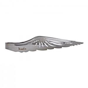 "Aladin Kohlenzange ""Wing"" Silver 23 cm"