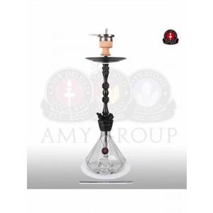 AMY Deluxe Shisha  Alu Diamond  black powder clear 80 cm