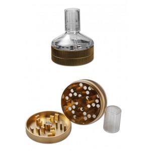 Anaxy Seed Grinder Aluminium Ø 55 mm, 2-teilig golden