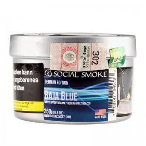 Social Smoke Shishatabak 250 g BAJA BLUE