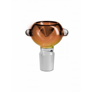Black Leaf Glaskopf amber mit Rollstop 18.8 Schliff