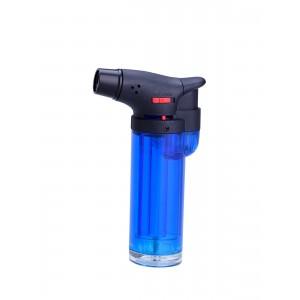 Jet Flame - Feuerzeug clear mit blauer Flamme (blau)