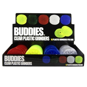 BUDDIES Plastik Grinder Ø 60 mm, 16er Display / Großpackung