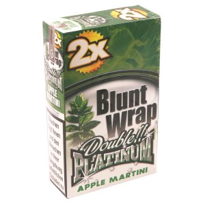 Blunt Wrap Double Platinum APPLE MARTINI 25 x 2 Box