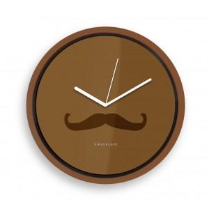 Wanduhr Mustache (Kikkerland)