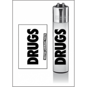 "CLIPPER Feuerzeug DRUGS ""Wasted German Youth"""