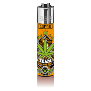 CLIPPER Feuerzeug Canna Teamz #2(orange)