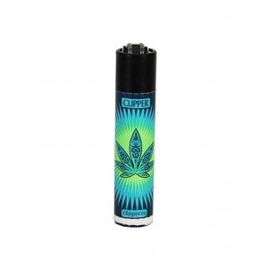 CLIPPER Feuerzeug Flash Leaf #2 hellblau