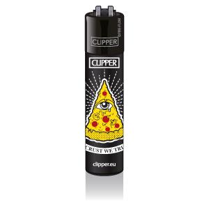 CLIPPER Feuerzeug Funny Pizza - In Crust We Trust