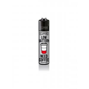 CLIPPER Feuerzeug Kaffee - Low Battery