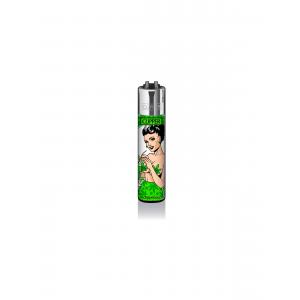 CLIPPER Feuerzeug Mary Jane PinUps #3 - Grün