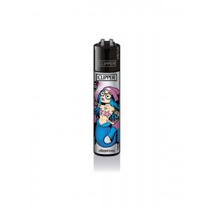 CLIPPER Feuerzeug Meerjungfrauen blau