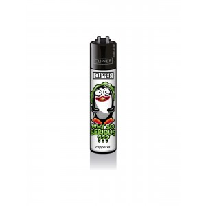 CLIPPER Feuerzeug Pinguine - Why So Serious?