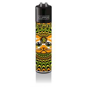 CLIPPER Feuerzeug Trippy Cats #2 - Yellow