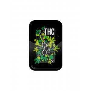 Clipper Rolling Tray Small THC Molecule