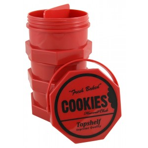 Cookies 3er Aufbewahrungsdosen-Set regular (rot)