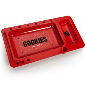 Cookies Rolling Tray Drehunterlage rot