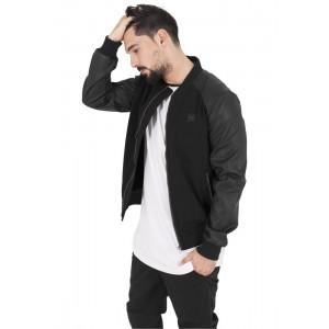 URBAN CLASSICS Cotton Bomber Jacke (schwarz)