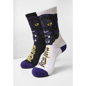 Feral Force Socks 2-Pack weiß-lila