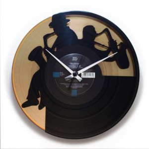 "Wanduhr ""Sax Gold"" (DISC'O'CLOCK)"