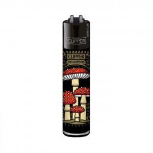 CLIPPER Feuerzeug Shrooms #5 schwarz