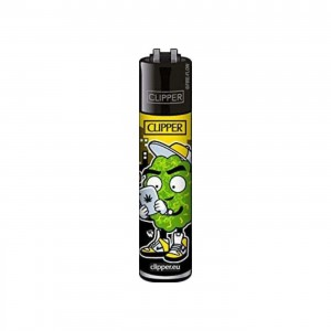 CLIPPER Feuerzeug 420 Buddies gelb