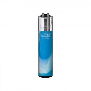 CLIPPER Feuerzeug Fluo Nebula blau