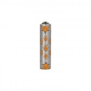 CLIPPER Feuerzeug Micro Metal Cover Leaves orange