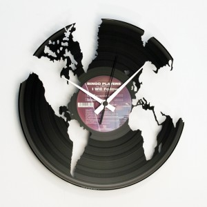 "Wanduhr ""World"" (DISC'O'CLOCK)"
