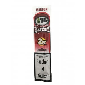 Blunt Wrap Double Platinum Maroon 2er Packung