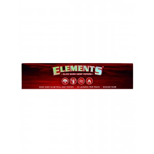 ELEMENTS Red Papers King Size Slim, Heftchen einzeln