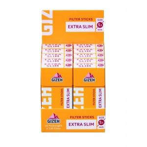 Gizeh Tip-Sticks Extra Slim Knickfilter 5,3 mm 10 x 126er Großpackung