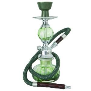 Mini-Shisha 1-Schlauch 24 cm grün mit Kugel