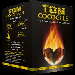 TOM Coco Gelb, 1 kg Kokoskohle-Briketts