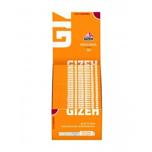 Gizeh Gelb Papers Cut Corners 50er Box