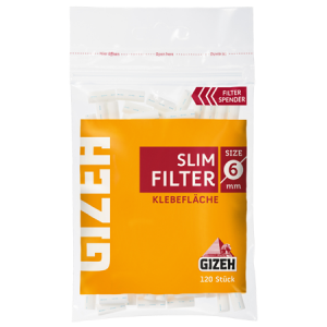 GIZEH Slim Filter 6 x 15 mm, 120er Pack