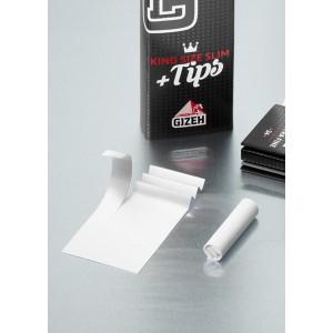 Gizeh Black Extra Fine King Size Papers + Tips mit Magnet, Heftchen einzeln