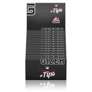 Gizeh Black Extra Fine King Size Papers + Tips mit Magnet, 26 er Box