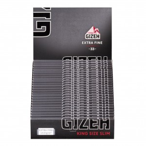 Gizeh Black Extra Fine King Size Papers mit Magnet, 50er Box