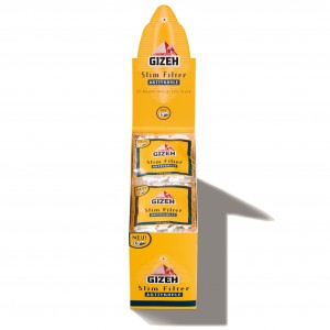 GIZEH Slim Filter Aktivkohle 6 x 15 mm, 20er Großpackung