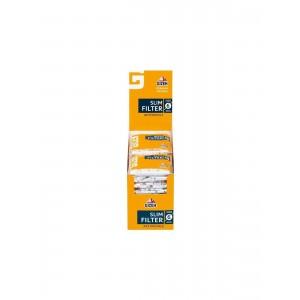 GIZEH Slim Filter Aktivkohle 6 x 15 mm 20er Großpackung