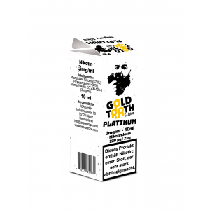 Gold Tooth Platinum 10 ml (3 mg Nikotin)