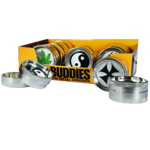 BUDDIES Mini Metal Grinder Ø 40 mm, 12er Display