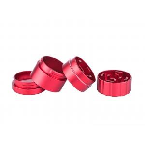 Siebgrinder Aluminium Ø 55 mm, 4-teilig Rot