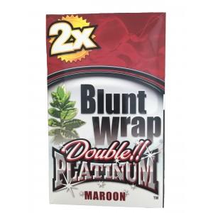 Blunt Wrap Double Platinum Maroon 25 x 2 Box