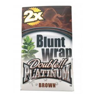 Blunt Wrap Double Platinum Brown 25 x 2 Box